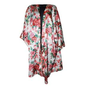 Just My Size Floral Silky Robe 4X